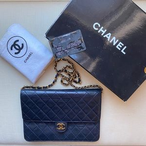 Chanel Marine Navy Classic Quilted Flap Bag